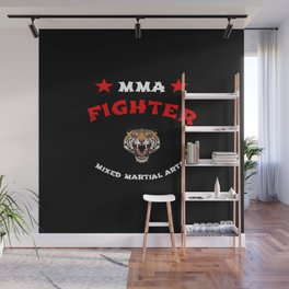 MMA Fighter Tiger Wall Mural