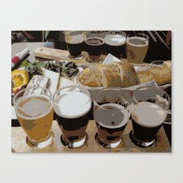 Beer Lunch | Beer Sampler | Beer Flight Canvas Print