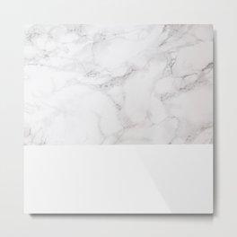 Modern pastel gray white elegant chic marble Metal Print