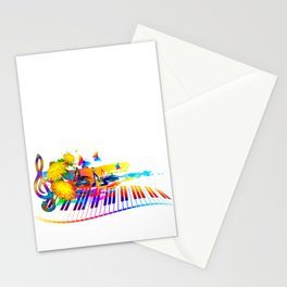 Colorful music instruments design Stationery Cards