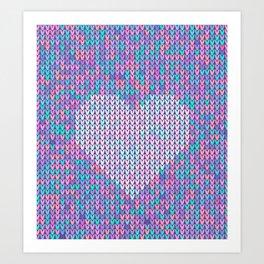 Heart Knit I Art Print