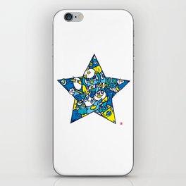 BLUE STAR iPhone Skin