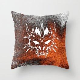 Diabolic, fire Throw Pillow