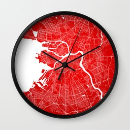 Sankt Peterburg map Wall Clock