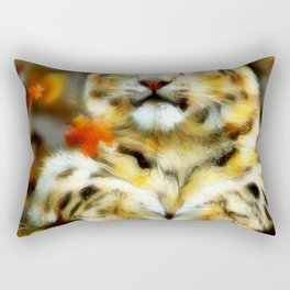 BABY SNOW LEOPARD 005 Rectangular Pillow
