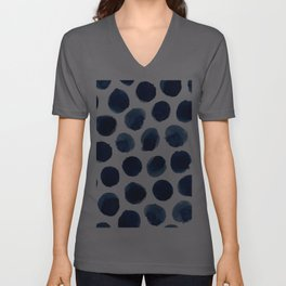 Watercolor polka dots Unisex V-Ausschnitt