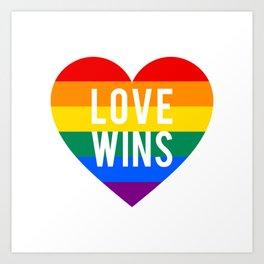 Love wins rainbow heart Art Print