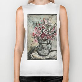 """Australian Ti Tree"" by Margaret Preston Biker Tank"