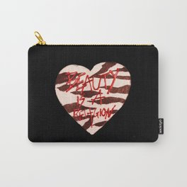 BeautyIsAReligion `ZEBRA HEART` Carry-All Pouch
