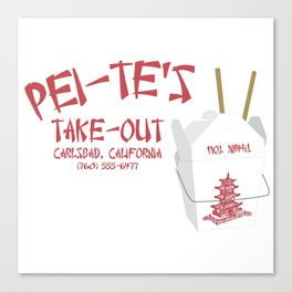 Pei-Te's Take-Out Canvas Print