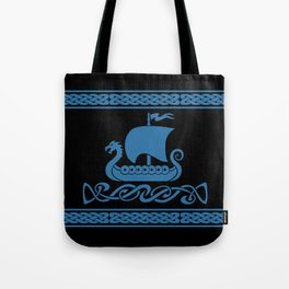 Drgon Boat - Blue Tote Bag