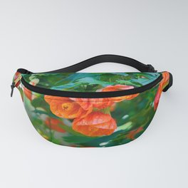 An Orange Floral Delight; Chinese Lantern Flowers Fanny Pack