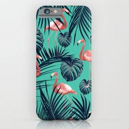 Tropical Flamingo Pattern #7 #tropical #decor #art #society6 iPhone Case
