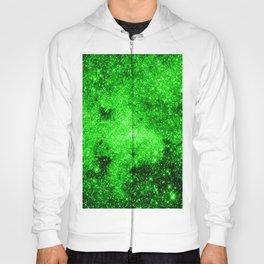 galaxy Stars 3 Bright Green Hoody