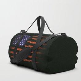 Grunge USA on black Duffle Bag