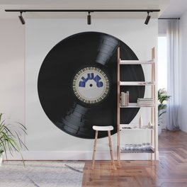 Blues Style Record Wall Mural