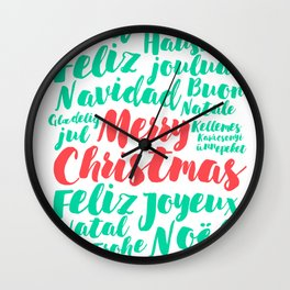 Merry Christmas! Wall Clock