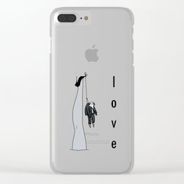 the woman's leg . love . art . Clear iPhone Case