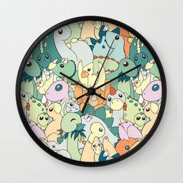 Cute Dino Pattern Wall Clock