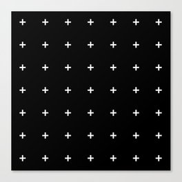 PLUS ((white on black)) Canvas Print