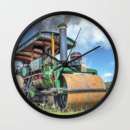 Marshall Steam Roller Wall Clock