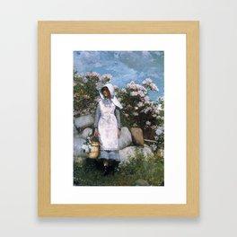 The Flower Seller Framed Art Print