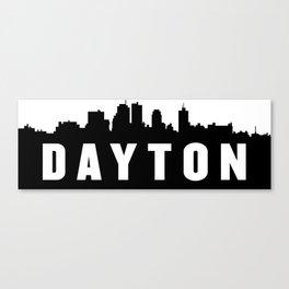 Dayton, Ohio City Skyline Silhouette Canvas Print