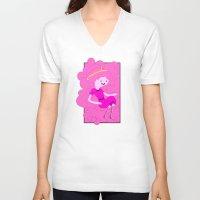 bubblegum V-neck T-shirts featuring Bubblegum by Tia Hank