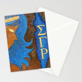 Sigma Gamma Rho Sister in Profile Stationery Cards