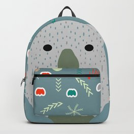 Winter pattern with baby bear Backpack