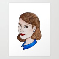 peggy carter Art Prints featuring Watercolour Peggy Carter by HayPaige