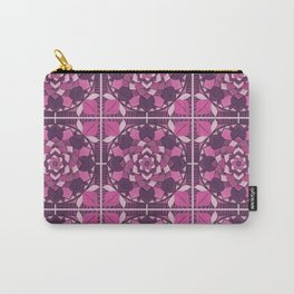 Mandala Flower Tiles Carry-All Pouch