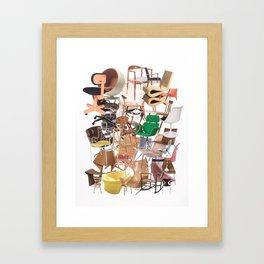 Chair Stack Framed Art Print