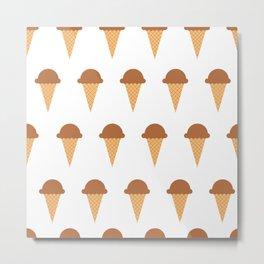 Chocolate Ice-creams Metal Print