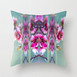 Cherry Blossom Abstract Throw Pillow