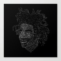 basquiat Canvas Prints featuring Basquiat by William