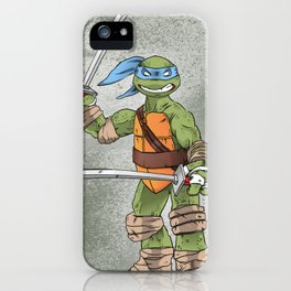 Leonardo TMNT Print - !TURTLE POWER! iPhone Case
