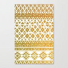 GOLDEN TRIBAL Canvas Print