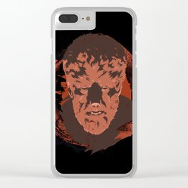 Horror Monster | Wolfman Clear iPhone Case