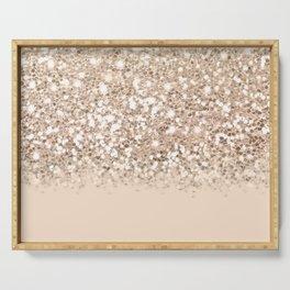 Dazzling Platinum Gold Gradient  Serving Tray