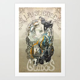 Madame la Science Art Print