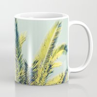 palm Mugs featuring Palm by Esther Ní Dhonnacha