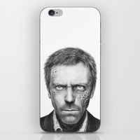 house md iPhone & iPod Skins featuring House MD by Olechka