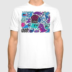 More Monsters White MEDIUM Mens Fitted Tee