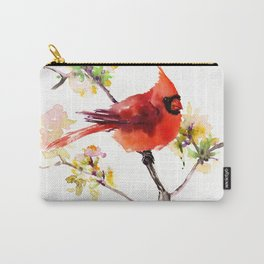 Cardinal Bird in Spring Carry-All Pouch