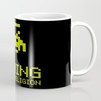 religion Mugs featuring Gaming is my religion by Lily's Factory