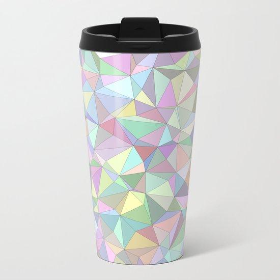 Happy triangles Metal Travel Mug