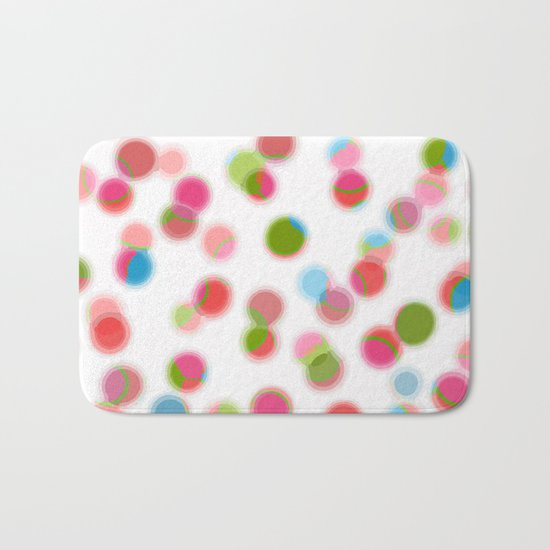 green red blue experiment Bath Mat