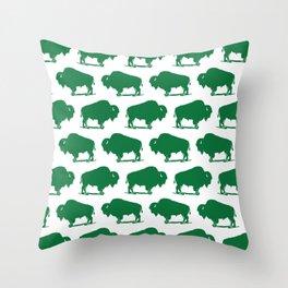 Buffalo Bison Pattern 284 Throw Pillow