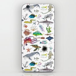 Under the Sea Alphabet iPhone Skin